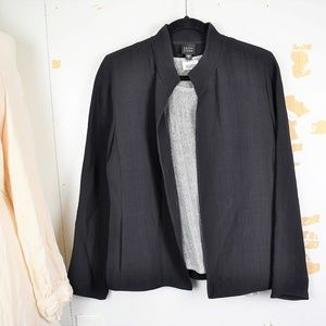 Eileen Fisher Washable Crepe Open-Front Cardigan
